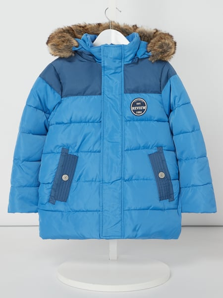 Review for Kids Steppjacke mit Webpelz Blau / Türkis - 1