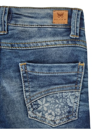 Stone Washed Jeansshorts mit floralen Prints Review for Kids online kaufen - 1