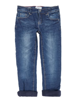 Stone Washed Regular Fit Jeans mit Futter Blau / Türkis - 1