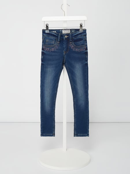 Review for Kids Stone Washed Slim Fit Jeans mit Ziersteinen - gefüttert Blau / Türkis - 1