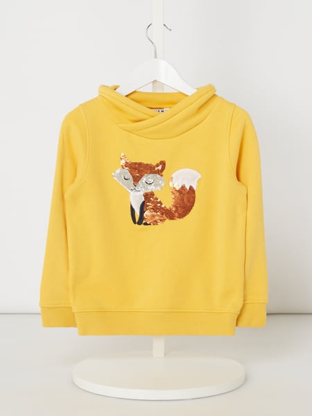 Review for Kids Sweatshirt mit Pailletten-Motiv Gelb - 1