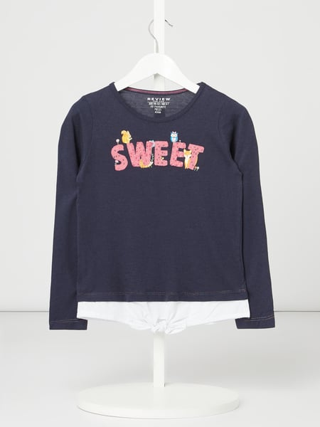 Review for Kids Sweatshirt mit Stickereien Blau - 1