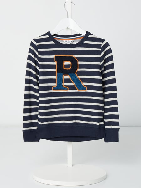 Review for Kids Sweatshirt mit Streifenmuster Blau - 1