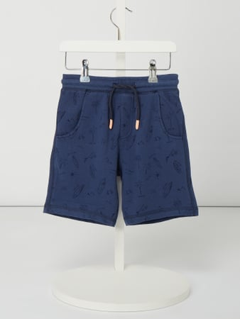Review for Kids Sweatshorts mit Allover-Muster Blau / Türkis - 1