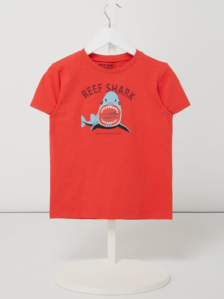 Review for Kids T-Shirt mit Hai-Applikation Rot - 1