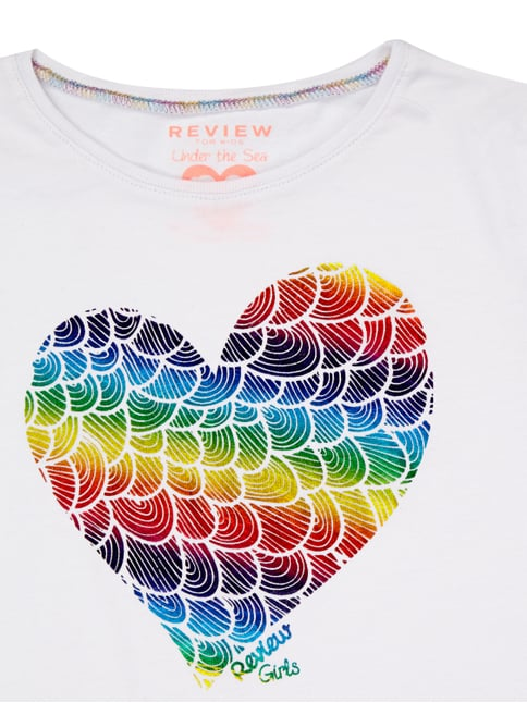 T-Shirt mit Herz-Print Review for Kids online kaufen - 1