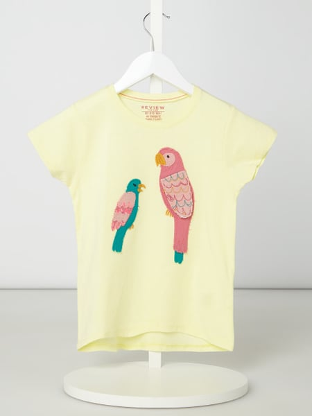 Review for Kids T-Shirt mit interaktivem Motiv-Aufnäher Gelb - 1