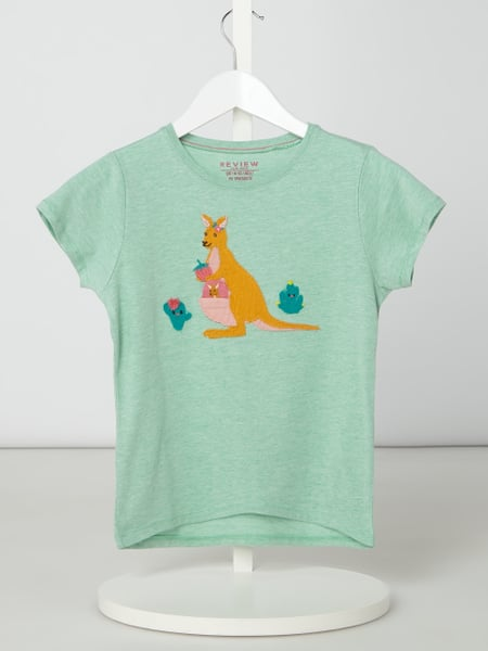 Review for Kids T-Shirt mit interaktivem Motiv-Aufnäher Grün - 1
