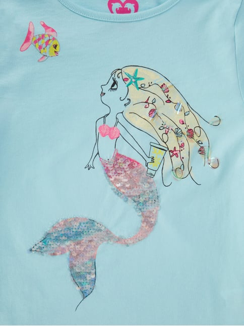 T-Shirt mit Meerjungfrau-Print Review for Kids online kaufen - 1