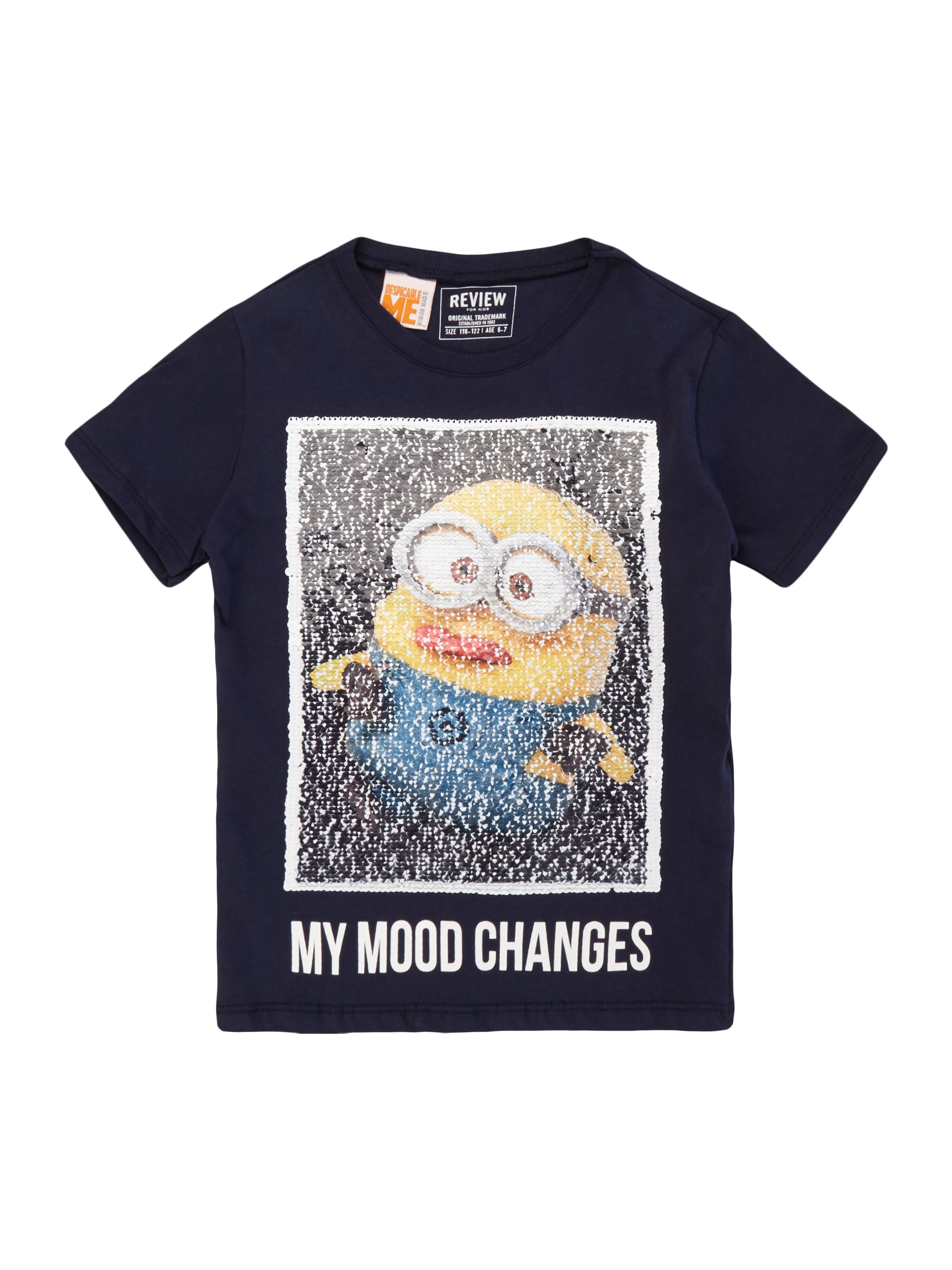 t shirt mit minions motiv aus wende pailletten fashion. Black Bedroom Furniture Sets. Home Design Ideas