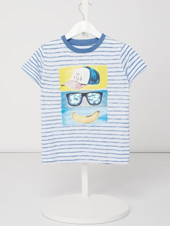 Review for Kids T-Shirt mit Print und Streifenmuster Blau - 1