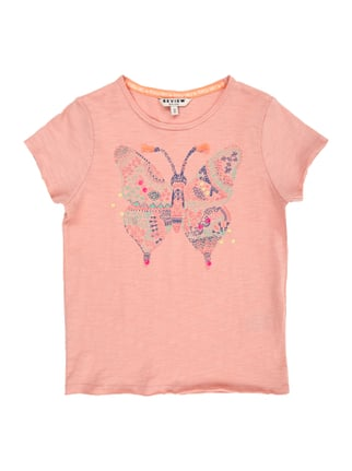 T-Shirt mit Schmetterlings-Print Rosé - 1