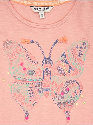 T-Shirt mit Schmetterlings-Print Review for Kids online kaufen - 1