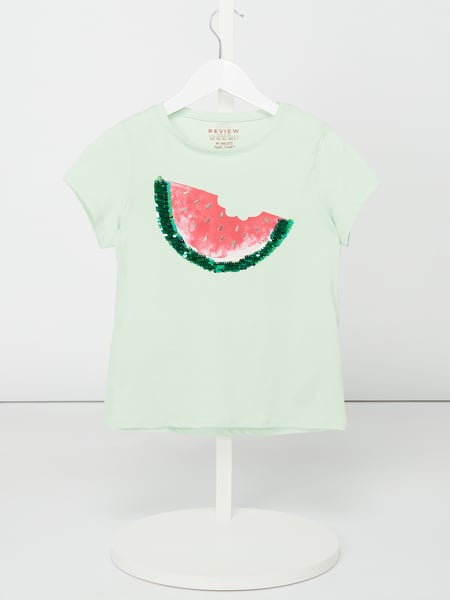 Review for Kids T-Shirt mit Wende-Pailletten Grün - 1