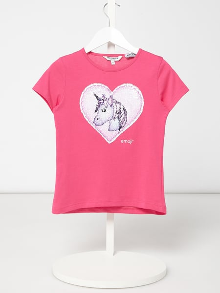 Review for Kids T-Shirt mit Wende-Pailletten Rosa - 1