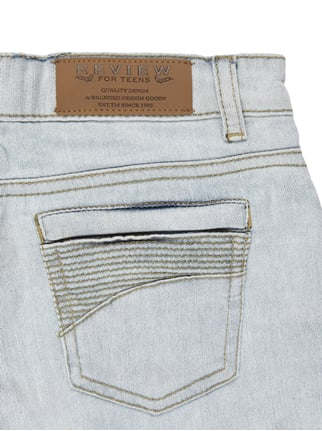 5-Pocket-Jeansshorts im Destroyed Look Review for Teens online kaufen - 1