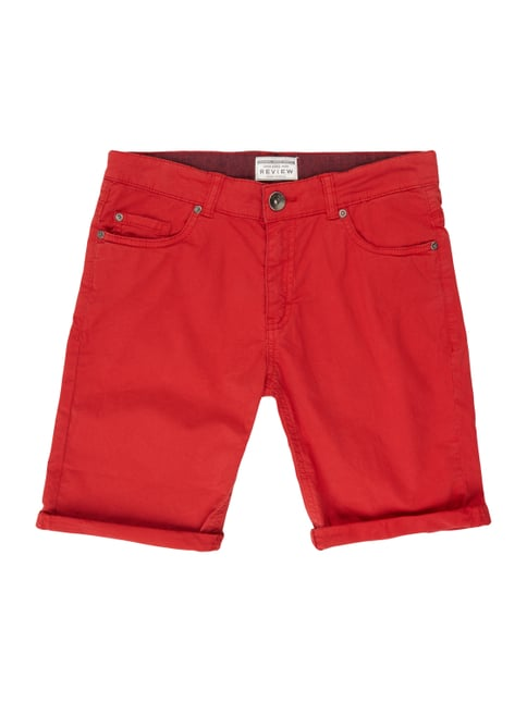 Bermudas im 5-Pocket-Design Rot - 1