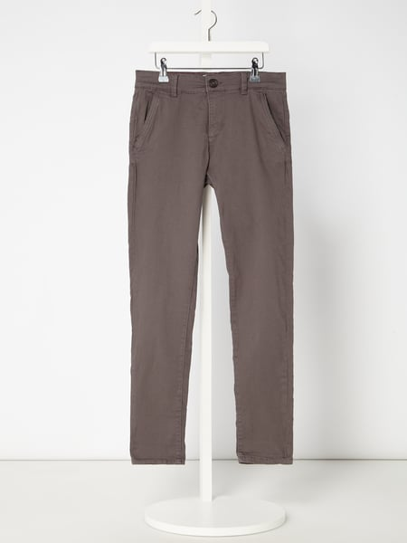 Review for Teens Chino mit Stretch-Anteil Grau / Schwarz - 1