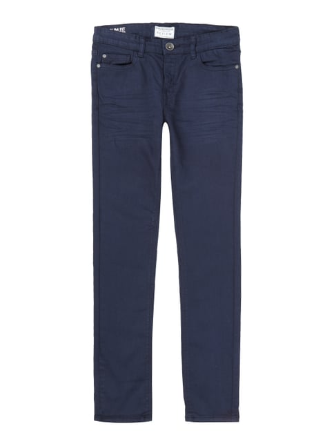 Coloured Slim Fit 5-Pocket-Jeans Blau / Türkis - 1