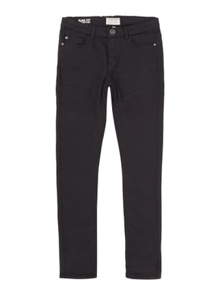 Coloured Slim Fit 5-Pocket-Jeans Grau / Schwarz - 1