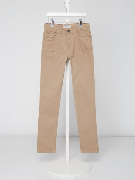 Review for Teens Coloured Slim Fit Jeans mit Weitenregulierung Beige - 1
