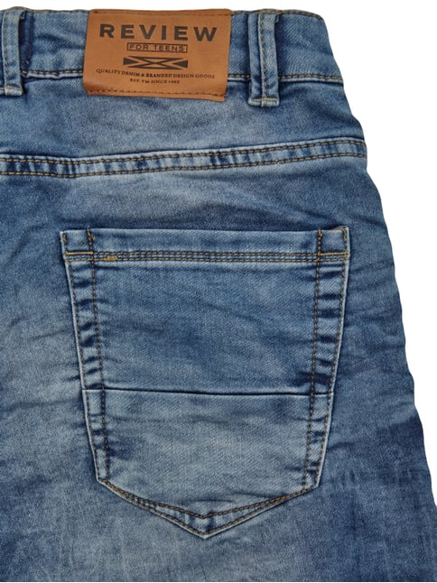 Jeansbermudas im Stone Washed Look Review for Teens online kaufen - 1
