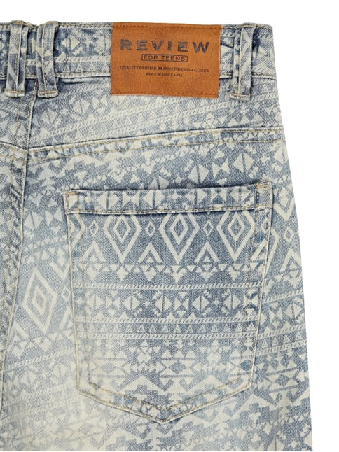 Jeansbermudas mit Ikatmuster Review for Teens online kaufen - 1