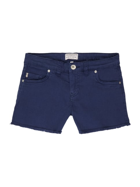 Jeansshorts aus Coloured Denim Blau / Türkis - 1