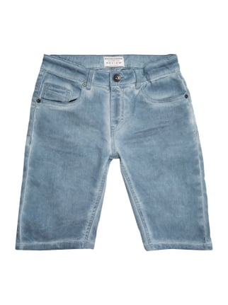 Jeansshorts im Washed Out Look Blau / Türkis - 1