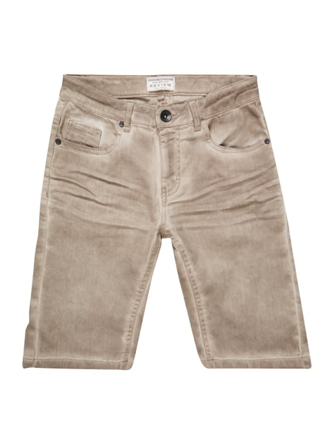Jeansshorts im Washed Out Look Braun - 1