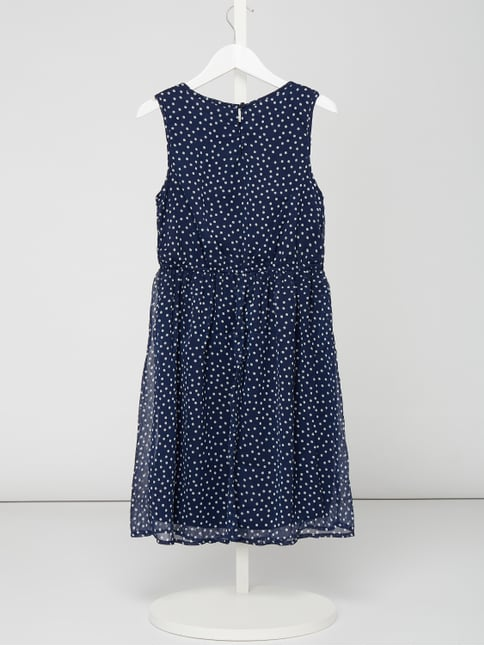 a658b2f9ded ... Review for Teens Kleid aus Chiffon mit Allover-Muster Dunkelblau - 1