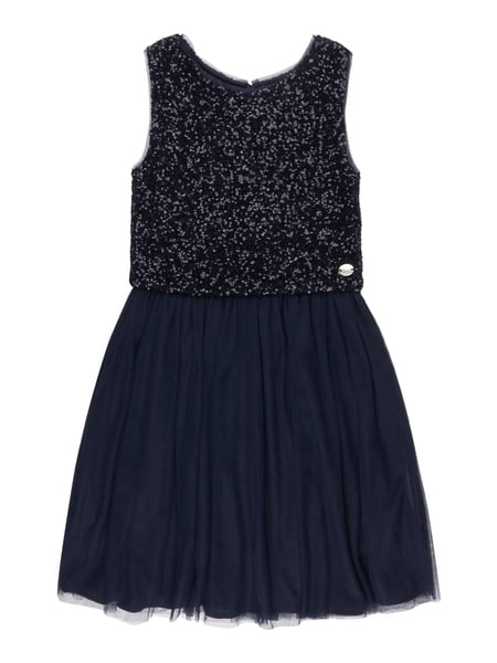 REVIEW-FOR-TEENS Kleid mit Pailletten-Besatz in Blau / Türkis online ...