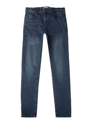 Light Stone Washed Regular Fit 5-Pocket-Jeans Blau / Türkis - 1