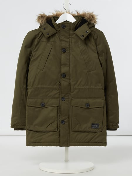 Review for Teens Parka mit Webpelzbesatz Grün - 1