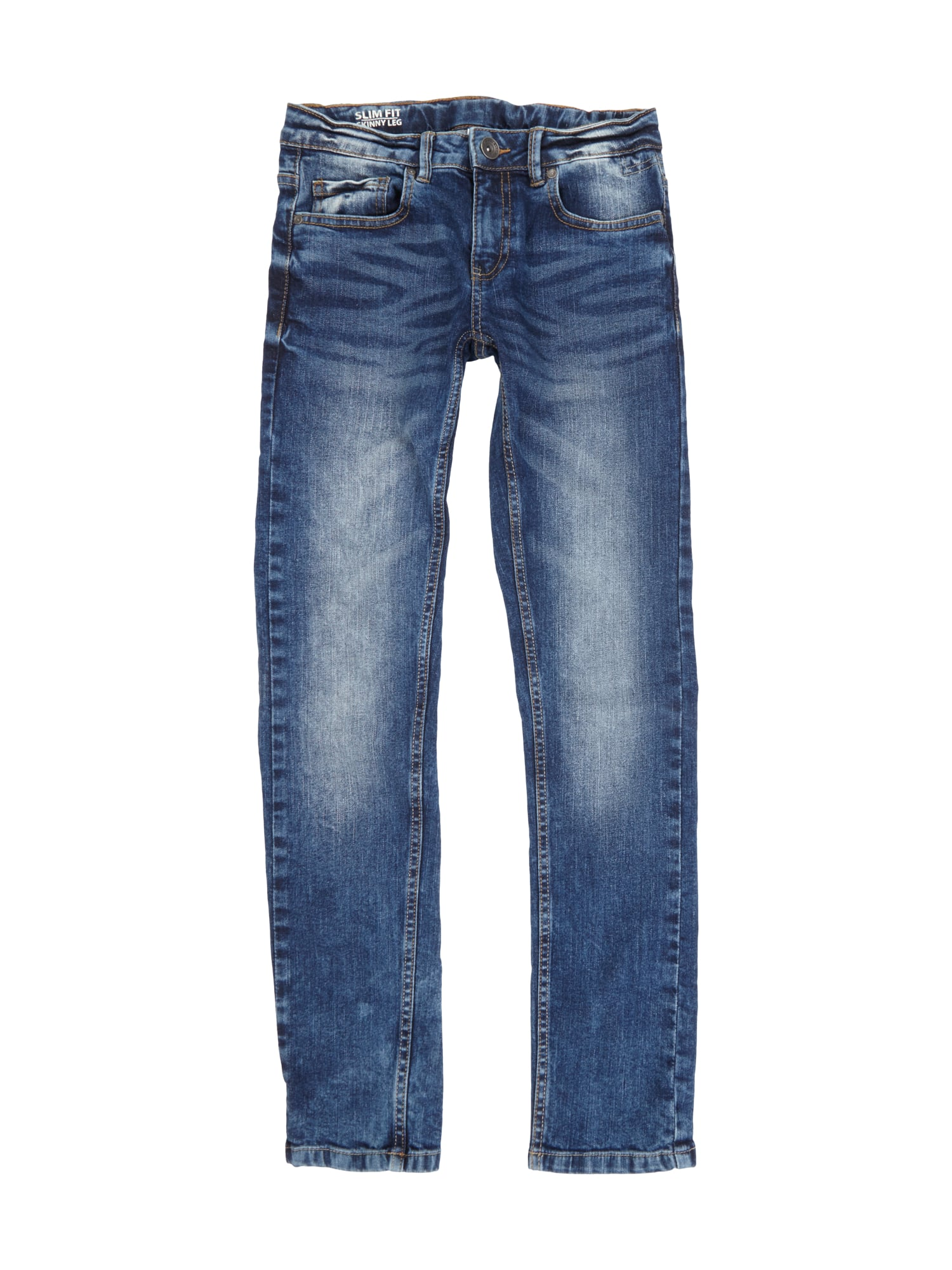 review for teens skinny fit jeans mit regulierbarer bundweite in blau t rkis online kaufen. Black Bedroom Furniture Sets. Home Design Ideas
