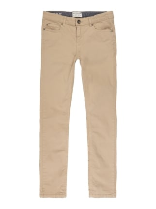 Slim Fit 5-Pocket-Hose Weiß - 1