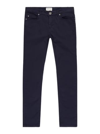 Slim Fit 5-Pocket-Hose Blau / Türkis - 1