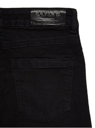 Slim Fit Jeans im Destroyed Look - verkürzt Review for Teens online kaufen - 1
