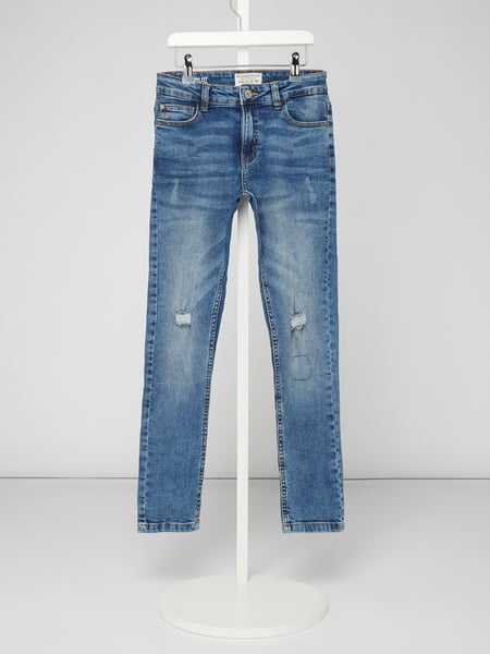 Review for Teens Slim fit jeans in used look Blauw - 1