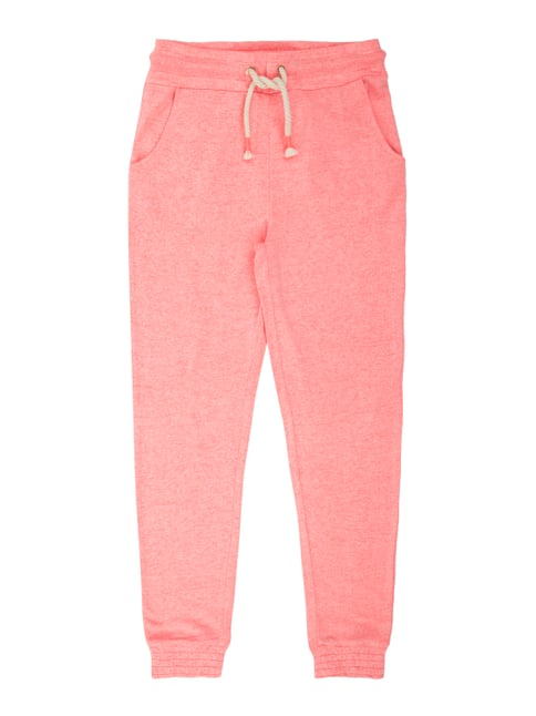 Sweatpants in Melangeoptik Rosé - 1
