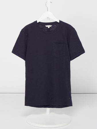 Review for Teens T-Shirt aus Slub Jersey mit Brusttasche Blau / Türkis - 1