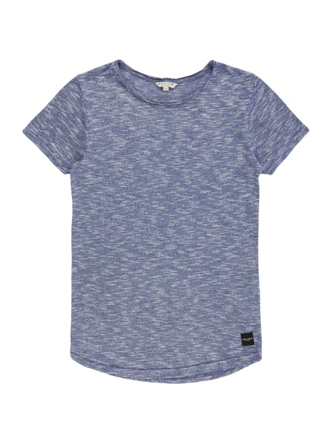 T-Shirt in Strickoptik Blau / Türkis - 1