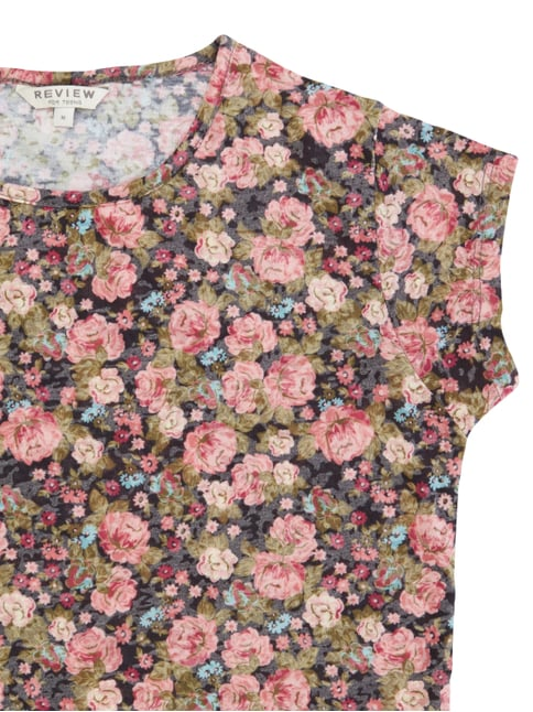 T-Shirt mit floralem Muster Review for Teens online kaufen - 1