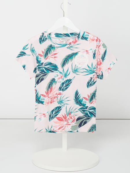 Review for Teens T-Shirt mit floralem Muster Rosa - 1