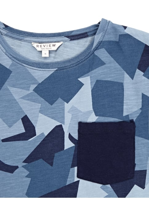T-Shirt mit stilisiertem Camouflage-Muster Review for Teens online kaufen - 1
