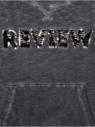 Washed Out Sweatshirt im 2-in-1-Look Review for Teens online kaufen - 1