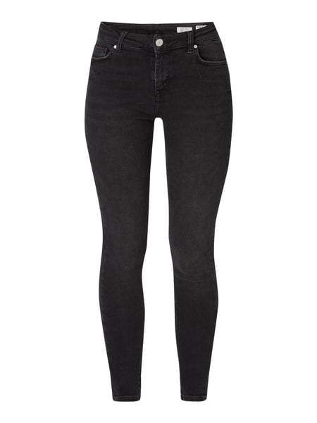 REVIEW High Waist Skinny Fit Jeans mit Stretch-Anteil Schwarz - 1