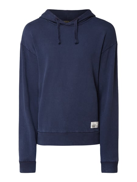 REVIEW Hoodie im Washed Out Look Blau - 1