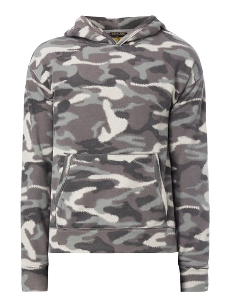 REVIEW Hoodie mit Camouflage-Muster Dunkelbraun