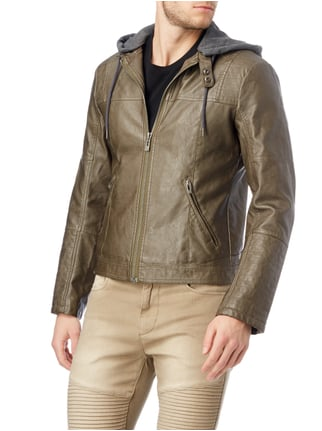 REVIEW Jacke im Biker-Look Khaki - 1